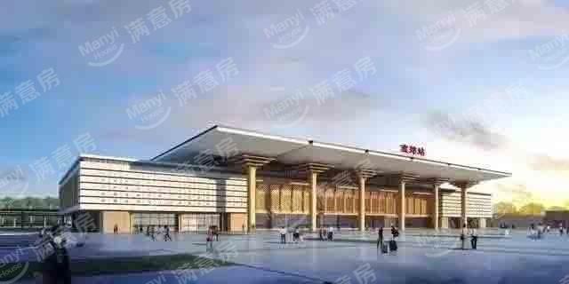 高铁车站房在燕郊的设计图